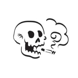 Череп с сигаретой